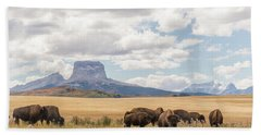 Where The Buffalo Roam Beach Sheet by Alex Lapidus