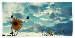 Where The Sunflowers Grow Beach Towel