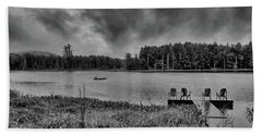 Beach Towel featuring the photograph Where To View Twin Ponds by David Patterson