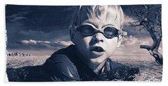 Where Will He Swim Tomorrow Beach Sheet