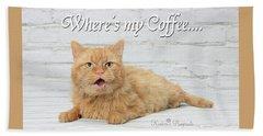 Where's My Coffee? Beach Towel