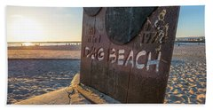 Where's Your Pooch Beach Towel by Joseph S Giacalone