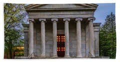 Beach Towel featuring the photograph Whig Hall Princeton University by Susan Candelario