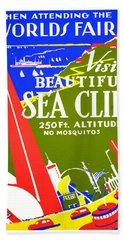 While In Worlds Fair, Visit Sea Cliff Beach Towel