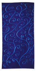 Whimsical Glowing Blue Swirls Beach Sheet