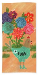 Henrietta The High Heeled Hen Beach Towel