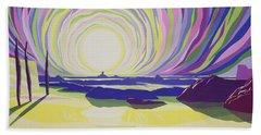 Whirling Sunrise - La Rocque Beach Towel