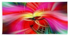 Whirlwind Of Colors Beach Sheet by Sue Melvin