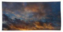 Whirly Sunset Beach Towel by Mark Blauhoefer