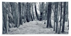 Beach Towel featuring the photograph Whispering Forest by Wayne Sherriff