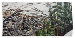 Beach Towel featuring the painting Whispering Pines by Marilyn  McNish