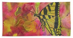 Whispers Of Wings And Petals Beach Towel