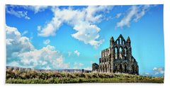 Whitby Abbey Ruin Beach Towel