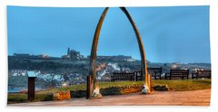 Whitby Whalebone Blue Hour Beach Sheet