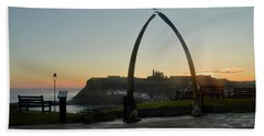 Whitby Whalebone Golden Hour Beach Towel