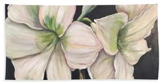 White Amaryllis  Beach Sheet