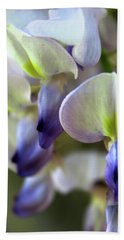 Wisteria White And Purple Beach Towel