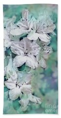 White Azaleas Beach Towel