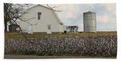 White Barn Cotton Patch Sunny Beach Towel by Rosalie Scanlon