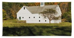 White Barn In Color Beach Sheet