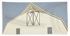 Beach Towel featuring the photograph White Barn South Woodstock Vermont by Edward Fielding