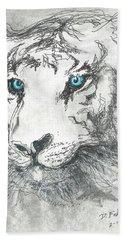 White Bengal Tiger Beach Sheet