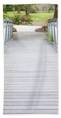Beach Towel featuring the photograph White Bridge by Raphael Lopez