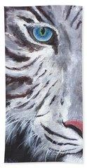 White Cat Beach Towel