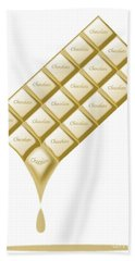 White Chocolate Bar Melting Beach Towel