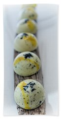 White Chocolate With Black Sesame Beach Sheet