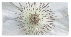 White Clematis Flower Garden 50121b Beach Sheet