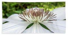 White Clematis Flower Garden 50146 Beach Sheet