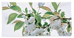 White Crabapple Blossoms Beach Towel