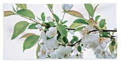 White Crabapple Blossoms Beach Sheet