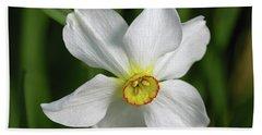 White Daffodil Beach Towel
