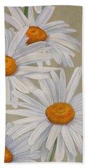 White Daisies Beach Towel