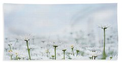 White Daisies In Summer Sunshine 2 Beach Sheet