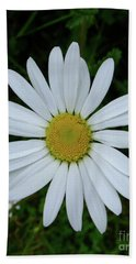 White Daisy Beach Towel