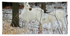 White Deer With Squash 2 Beach Towel
