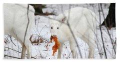 White Deer With Squash 5 Beach Towel by Brook Burling