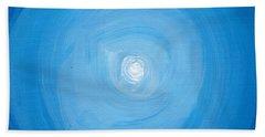 White Dot In Sea Of Blue Beach Towel