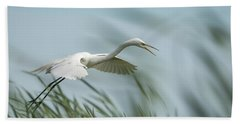 White Egret 2016-2 Beach Towel