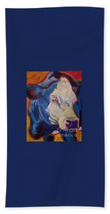 White Face Cow Beach Towel by Jenn Cunningham