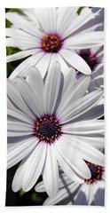 White Flower 1 Beach Sheet