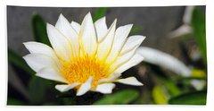 White Flower 3 Beach Sheet