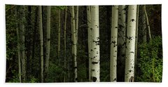 Beach Towel featuring the photograph White Forest by James BO Insogna