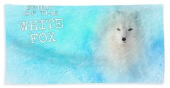 White Fox Spirit Beach Towel