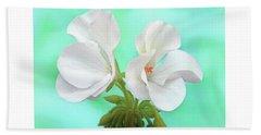 White Geranium Beach Sheet