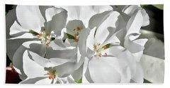 White Geraniums Beach Sheet
