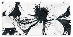 White Hibiscus- Art By Linda Woods Beach Towel